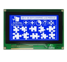 4.7 inch LCD 240x128 TouchScreen Graphic Module Display White on Blue ERM240128SBS-2